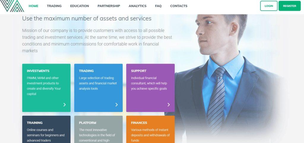 Услуги брокера Comax Invest